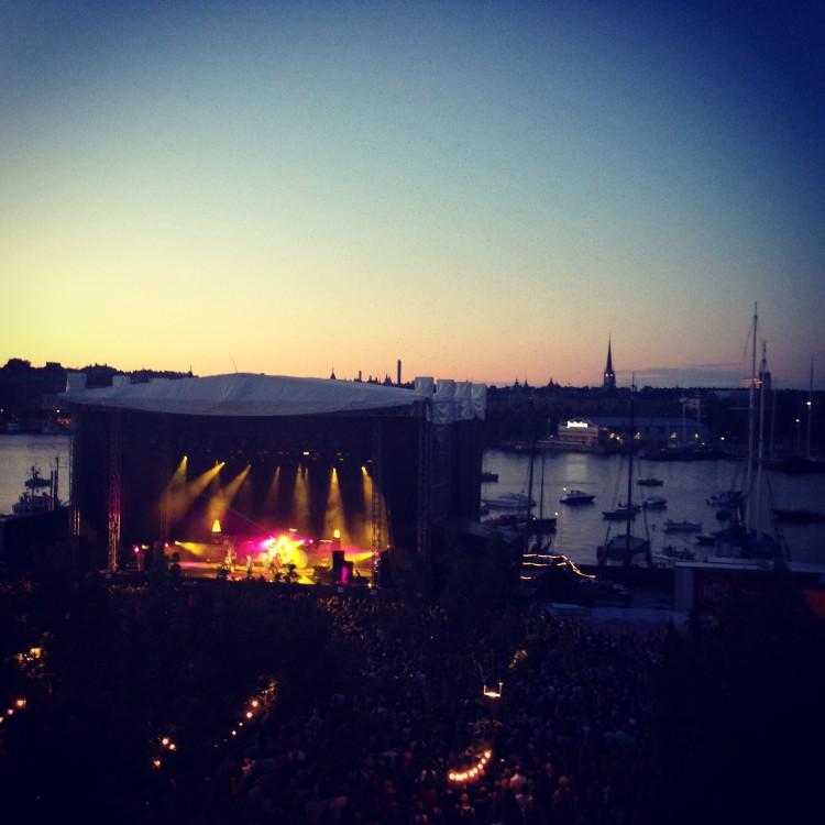 Prince spelar på Stockholm Music & Arts