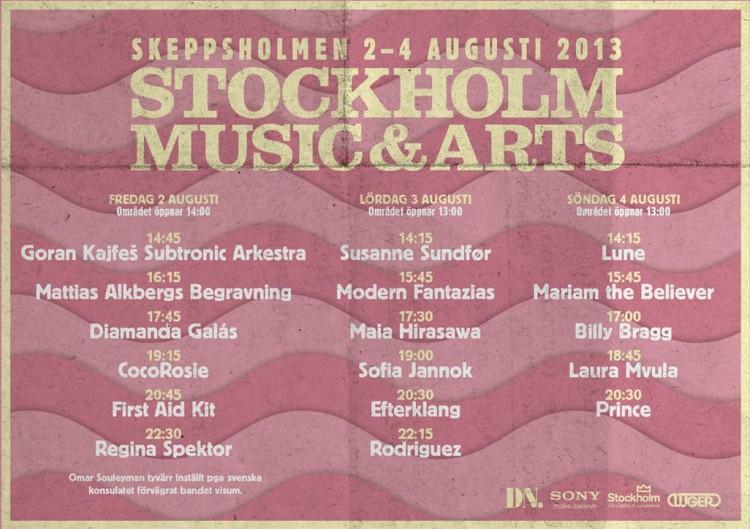 Stockholm Music & Arts spelschema