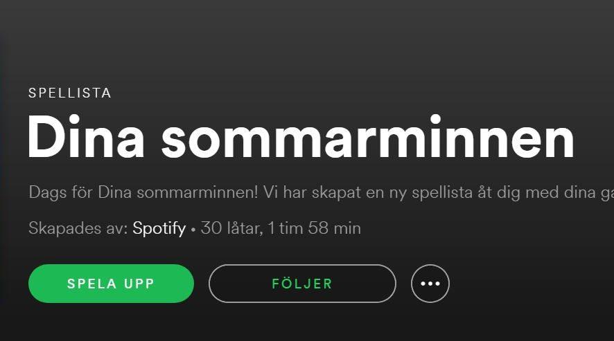 Finfin present från Spotify
