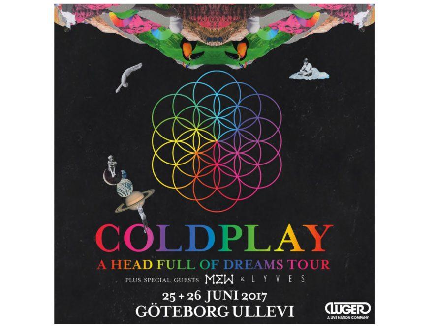 Fler Coldplaybiljetter släppta idag